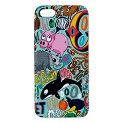 Alphabet Patterns Apple Iphone 5 Premium Hardshell Case by AnjaniArt