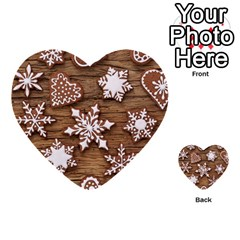 Christmas Cookies Multi Purpose Cards (heart)  by AnjaniArt