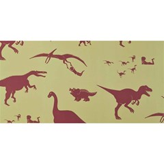 Dinosourus You Are Invited 3d Greeting Card (8x4) by AnjaniArt