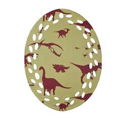 Dinosourus Oval Filigree Ornament (2 Side)  by AnjaniArt