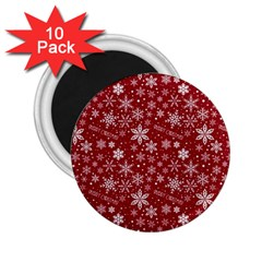 Christmas Day 2 25  Magnets (10 Pack)  by AnjaniArt