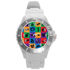 Elife Round Plastic Sport Watch (l) by AnjaniArt