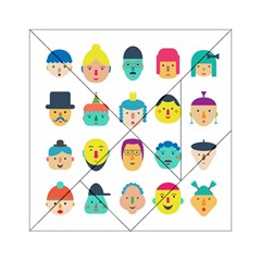 Face People Man Girl Male Female Young Old Kit Acrylic Tangram Puzzle (6  x 6 ) by AnjaniArt