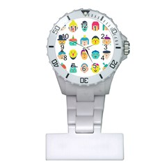 Face People Man Girl Male Female Young Old Kit Plastic Nurses Watch by AnjaniArt