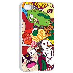 Face Mask Cartoons Stash Holiday Apple Iphone 4/4s Seamless Case (white) by AnjaniArt