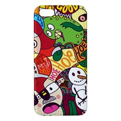 Face Mask Cartoons Stash Holiday Apple Iphone 5 Premium Hardshell Case by AnjaniArt