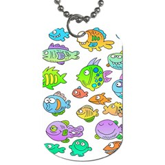 Fishes Col Fishing Fish Dog Tag (two Sides) by AnjaniArt
