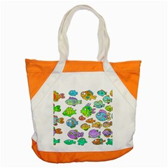 Fishes Col Fishing Fish Accent Tote Bag by AnjaniArt