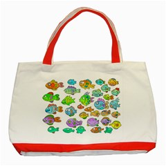 Fishes Col Fishing Fish Classic Tote Bag (red) by AnjaniArt