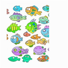 Fishes Col Fishing Fish Small Garden Flag (two Sides) by AnjaniArt