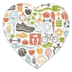 Health Habits Attitudes Hispanic Studied Sport Jigsaw Puzzle (Heart) by AnjaniArt