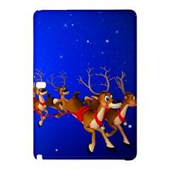 Holidays Christmas Deer Santa Claus Horns Samsung Galaxy Tab Pro 10 1 Hardshell Case by AnjaniArt
