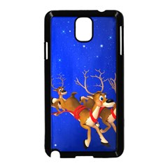 Holidays Christmas Deer Santa Claus Horns Samsung Galaxy Note 3 Neo Hardshell Case (black) by AnjaniArt
