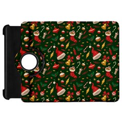Hat Merry Christmast Kindle Fire Hd Flip 360 Case by AnjaniArt
