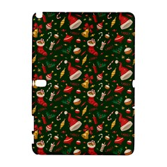 Hat Merry Christmast Samsung Galaxy Note 10 1 (p600) Hardshell Case by AnjaniArt
