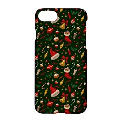 Hat Merry Christmast Apple iPhone 7 Hardshell Case by AnjaniArt
