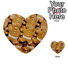 Gingerbread Men Multi Purpose Cards (heart)  by AnjaniArt