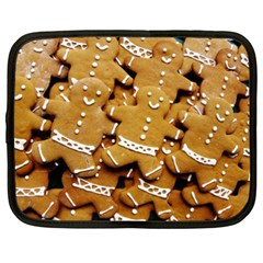 Gingerbread Men Netbook Case (xxl)  by AnjaniArt