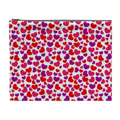 Love Pattern Wallpaper Cosmetic Bag (xl) by AnjaniArt