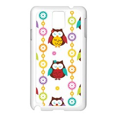 Owl Samsung Galaxy Note 3 N9005 Case (white) by AnjaniArt