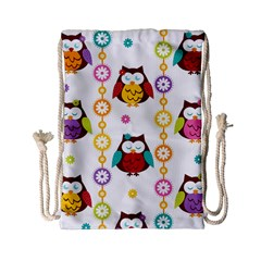 Owl Drawstring Bag (small) by AnjaniArt