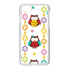 Owl Apple Iphone 7 Seamless Case (white) by AnjaniArt