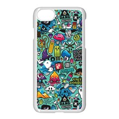 Monster Apple Iphone 7 Seamless Case (white) by AnjaniArt