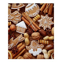 Nuts Cookies Christmas Shower Curtain 60  x 72  (Medium)  by AnjaniArt