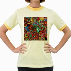 Moster Mask Women s Fitted Ringer T Shirts by AnjaniArt