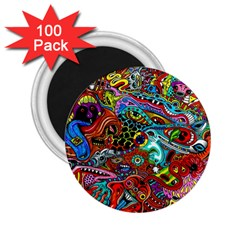 Moster Mask 2 25  Magnets (100 Pack)  by AnjaniArt