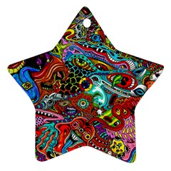Moster Mask Star Ornament (two Sides)  by AnjaniArt