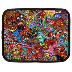 Moster Mask Netbook Case (xl)  by AnjaniArt