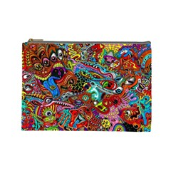 Moster Mask Cosmetic Bag (large)  by AnjaniArt