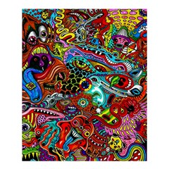 Moster Mask Shower Curtain 60  X 72  (medium)  by AnjaniArt