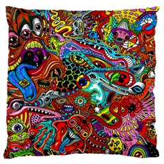 Moster Mask Large Cushion Case (one Side) by AnjaniArt