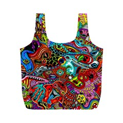 Moster Mask Full Print Recycle Bags (m)  by AnjaniArt