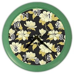 Pattern Rose Color Wall Clocks by AnjaniArt