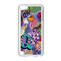 Q Pattern Apple Ipod Touch 5 Case (white) by AnjaniArt