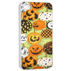 Print Halloween Apple Iphone 4/4s Seamless Case (white) by AnjaniArt