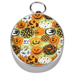 Print Halloween Silver Compasses by AnjaniArt