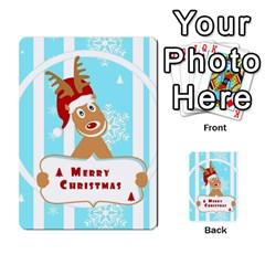 Santa Claus Reindeer Christmas Multi Purpose Cards (rectangle)  by AnjaniArt