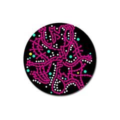 Pink Fantasy Magnet 3  (round) by Valentinaart