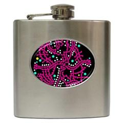 Pink Fantasy Hip Flask (6 Oz) by Valentinaart