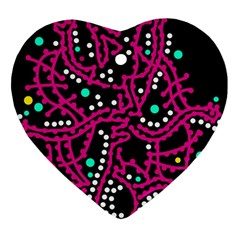 Pink Fantasy Heart Ornament (2 Sides) by Valentinaart