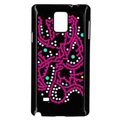 Pink Fantasy Samsung Galaxy Note 4 Case (black) by Valentinaart