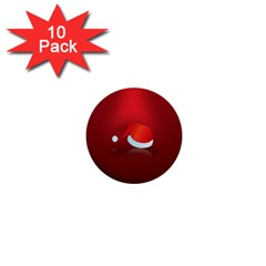 Red Christmas Had 1  Mini Buttons (10 Pack)  by AnjaniArt
