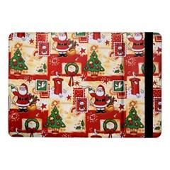 Santa Clause Mail Bird Snow Samsung Galaxy Tab Pro 10 1  Flip Case by AnjaniArt