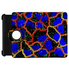 Single Cells Gene Edges Zoomin Color Kindle Fire Hd Flip 360 Case by AnjaniArt