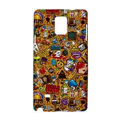 Retro Face Samsung Galaxy Note 4 Hardshell Case by AnjaniArt