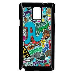 Teks Face Samsung Galaxy Note 4 Case (black) by AnjaniArt